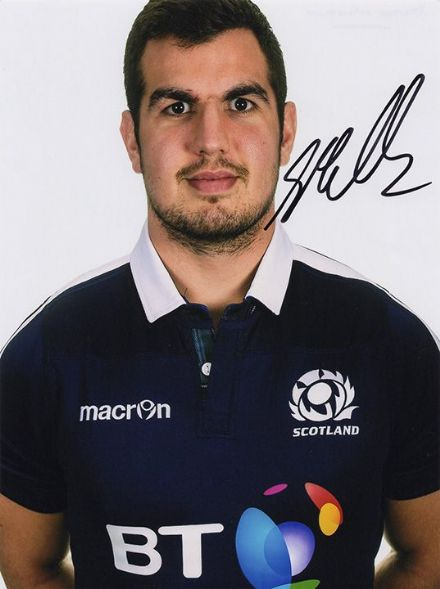 Stuart McInally, Edinburgh & Scotland, signed 8x6 inch photo.